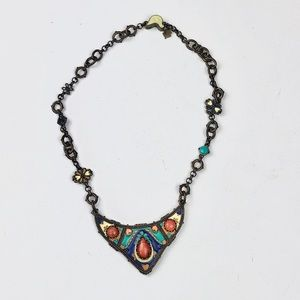 Lucky Brand Beautiful Boho Colorful Necklace